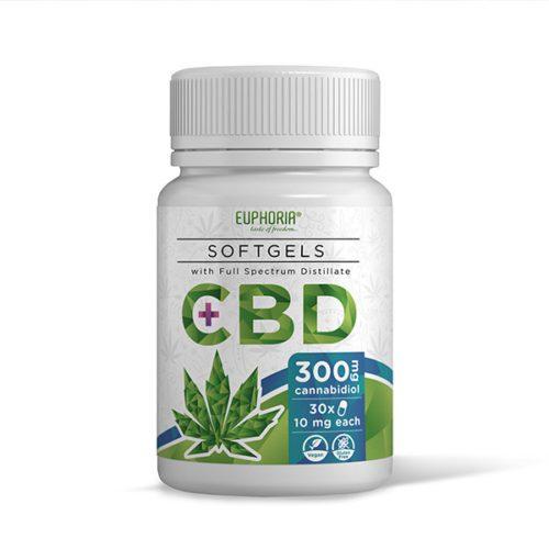 Euphoria CBD Softgel Kapseln mit 300 mg